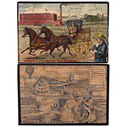 MA, Lowell--Hood's Advertising Puzzle Broadside