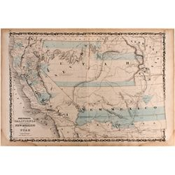 NVHistoric Utah/ Nevada Map on Plywood Backing