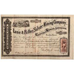 NV, Austin-Lander County-Lane & Fuller Silver Mining Company Stock