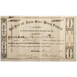 NV, Austin-Lander County-New York and Austin Silver Mining Company Stock