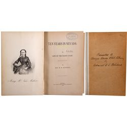 "NV, Virginia City-Storey County-""Ten Years in Nevada"" Book"