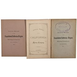 NV, Virginia City-Storey County-Comstock Annual Reports