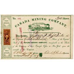 NY, New York--Canada Mining Company Stock