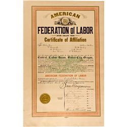 OR, Baker City--Early Union Affiliation Document