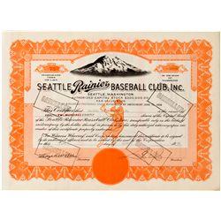 WA, Seattle-King County-Seattle Rainier Baseball Club, Inc. Stock