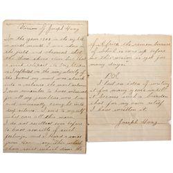 NY, New York--Joseph Hoag's Civil War Vision Letter