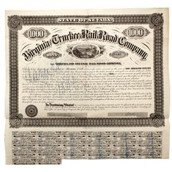 NV, Virginia City-Storey County-V & T Railroad Bond