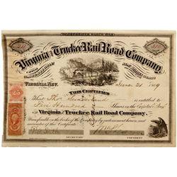 NV, Virginia City-Storey County-V & T Sharon Signed Stock Cert.