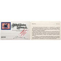 NYUnited States Express Co. Specimen