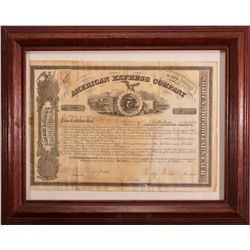 NY, New York--Signed Wells & Fargo American Express Stock Cert.