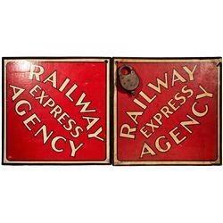 NY, New York City--Railway Signs and Lock