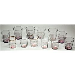 A Dozen Shot Glasses