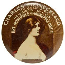 CA, San Francisco--Monopole Champagne Advertising Mirror