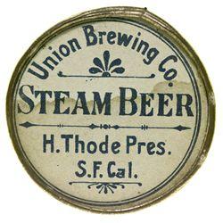 CA, San Francisco--Union Brewing Company Saloon Mirror