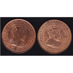 1909 & 1910 One Cents