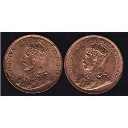 1911 & 1912 One Cents