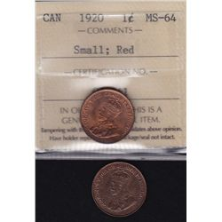 1920 & 1921 One Cents