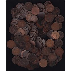 Lot of 175 Canadian Large Cents