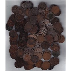 Lot of 170 Canadian Large Cents