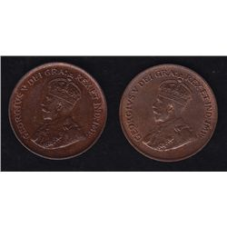 1927 & 1928 One Cents