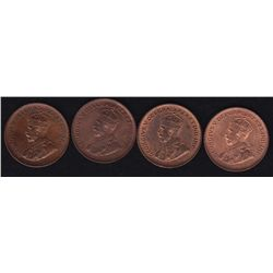 Lot of Four One Cents