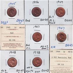 Lot of Thirteen One Cents