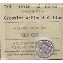 1874H Five Cent