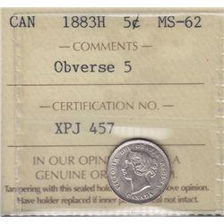 1883H Five Cent