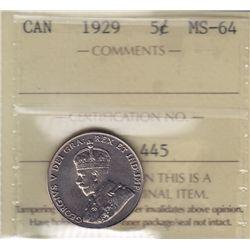 1929 Five Cent