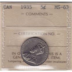 1935 Five Cent