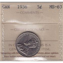 1936 Five Cent