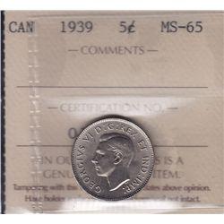 1939 Five Cent