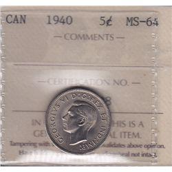 1940 Five Cent