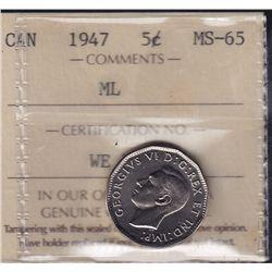 1947 Five Cent
