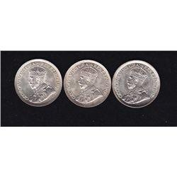 Lot of Three Ten Cents