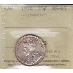 1916 Twenty Five Cent