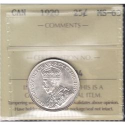 1920 Twenty Five Cent