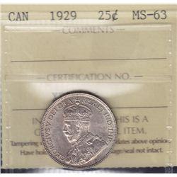 1929 Twenty Five Cent