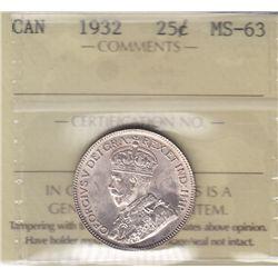 1932 Twenty Five Cent