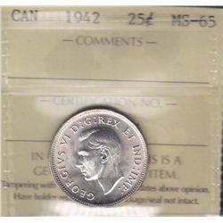 1942 Twenty Five Cent