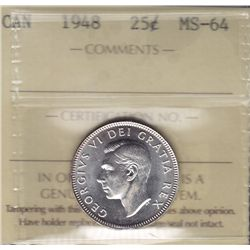 1948 Twenty Five Cent