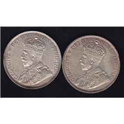 1916 & 1917 Fifty Cents