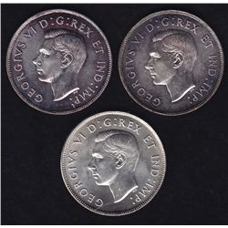 Lot of Three Fifty Cents