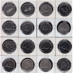 Lot of 51 Nickel Fifty Cents and Dollars