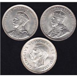 Lot of Three Silver Dollars
