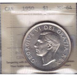 1950 Silver Dollar Arnprior Variety