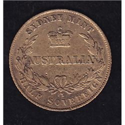 1856 1/2 Sovereign