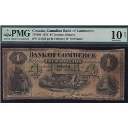 1870 Canadian Bank of Commerce $4