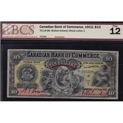 1912 Canadian Bank of Commerce $10