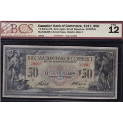 1917 Canadian Bank of Commerce $50